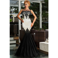 Elegant Fashion Backless Package Hip Round Necked Sleeveless Formal Night Long Dress _ 2253