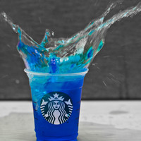 Starbucks Blue Splash