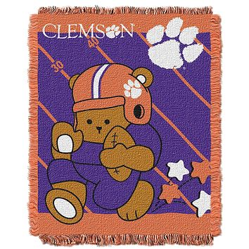 Clemson Tigers Woven Youth 36x46 Throw Rug