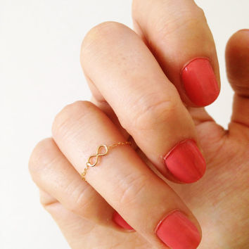 Above knuckle ring, tiny infinity ring, gold knuckle ring, silver stacking rings, pinkie ring, knuckle ring, tiny gold ring, stackable ring
