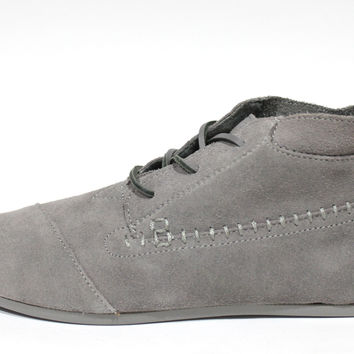 Toms Women's Tribal Boots Grey Suede Shoes