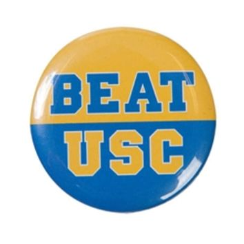 "UCLA Bruins ""Beat USC"" Button"