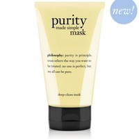 purity made simple | deep-clean mask | philosophy cleanse