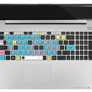 Microsoft Excel - Keyboard Sticker with shortcuts & hotkeys for Macbook Mac PC Office