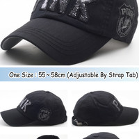 B31 Women's Sexy Twinkle PINK Emblem Club Dance Ball Cap, Baseball Hat Truckers