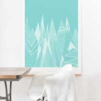 Viviana Gonzalez Patterns in the mountains 02 Art Print And Hanger   Deny Designs Home Accessories