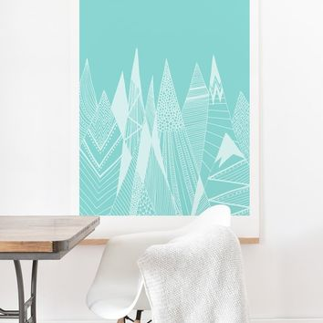 Viviana Gonzalez Patterns in the mountains 02 Art Print And Hanger | Deny Designs Home Accessories