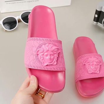 Versace Summer Women Men Leisure Sandals Slipper Shoes(8-Color) Pink I-ALS-XZ