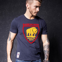 Print Short Sleeve Stylish Men's Fashion Round-neck T-shirts [10488642051]