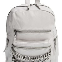 Ash 'Small Domino' Chain Leather Backpack