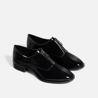 ZIPPED BLUCHERS - View all-SHOES-WOMAN | ZARA United Kingdom