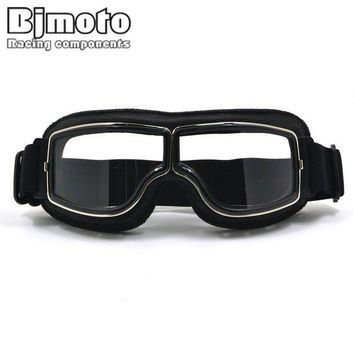 ac NOOW2 New Vintage For Harley Style Motorcycle Helmet Goggles Scooter Glasses Aviator Pilot Cruiser Steampunk with Free Bag