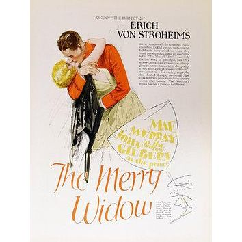 The Merry Widow Poster//The Merry Widow Movie Poster//Movie Poster//Poster Reprint