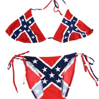 Confederate Flag String Bikini Rebel Swimsuit Dixie = 1955884228