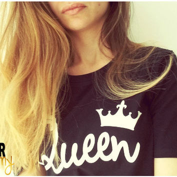 King queen shirts, matching couple shirts, couple shirts, royalty shirts for couple, family shirts, fam shirts, bf gf matching style