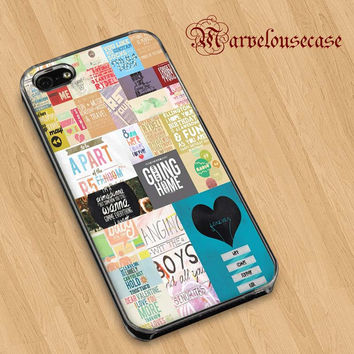 R5 Lyrics and Quotes collage custom case for all phone case