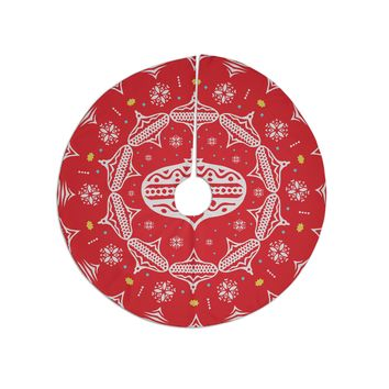 "Miranda Mol ""Deco Wreath Red"" Scarlet Tree Skirt"