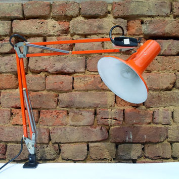 Angle poise desk lamp / architect lamp /70's / industrial / made in Yugoslavia
