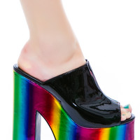 Y.R.U. Dream Platform Shoe Black Multi