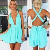 Hot Sale Fashion Women  Summer Beach Sexy Romper [6048650177]