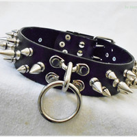 Spiked Faux Leather BDSM Collar