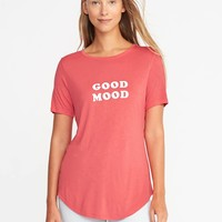 Relaxed Curved-Hem Tee for Women | Old Navy