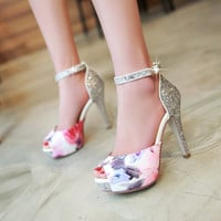 fish mouth high-heeled shoes
