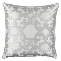 "Z Gallerie - Boulevard Pillow 24"" - Silver"