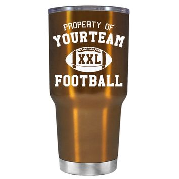 TREK Custom Property of Team Football on Copper 30 oz Tumbler Cup