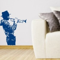 Wall Decal Vinyl Sticker Trumpeter Musical Instrument Art Design Room Nice Picture Decor Hall Wall Chu1312