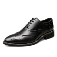 Formal Dress Men Shoes Genuine Leather Brogue Business Classic Office Men Casual Oxfords Shoes