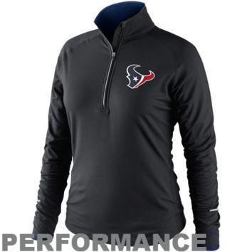 nike houston texans women s conversion half zip performance jacket black
