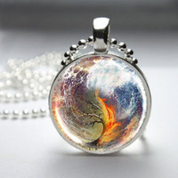 Divergent Combined Cover Art Pendant Necklace