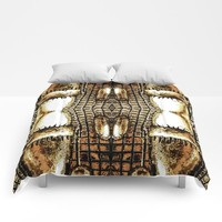 Go Gold Or Go Home Comforters by Louisa Catharine Art And Patterns