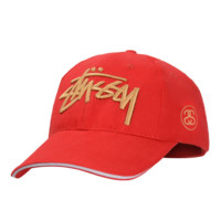 Red Fashion Stussy Baseball cotton cap Hat