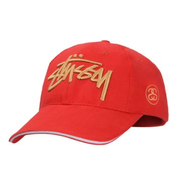 Red Fashion Stussy Baseball Cap Hat