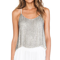 MLV Lexi Sequin Top in Ivory