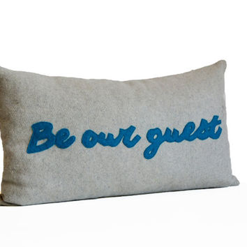 Be Our Guest Pillow Cushion Cover -Guest Room Lumbar Pillow -Welcome Gift -Wedding Decor -Wedding Gift -Guest Room Decor -All Sizes