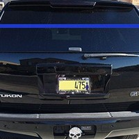 "Police Officer Support Thin Blue Line Rear Window Decal Blue Lives Matter LEO Law Enforcement 70""wide by 2""high"