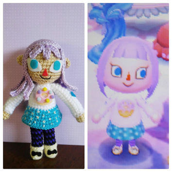 ACNL Custom Character Amigurumi Crochet Doll Animal Crossing Villager