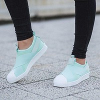 "Adidas Superstar Slip On "" Ice Mint """