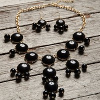 Draping Enamel Necklace Set - Black from Jewelry & Accessories at Lucky 21 Lucky 21