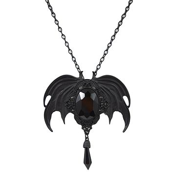 Restyle Della Morte Vespertilio Gothic Vampire Bat Broach Pendant Necklace