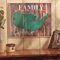 Family Map Wall Art