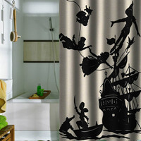 peter pan fly never ground up special shower curtains