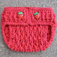 Crochet Pattern for Ripple Berry Diaper Cover - 3 sizes, newborn, 0-6 months, 6-12 months - Welcome to sell finished items