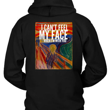 The Weeknd I Cant Feel My Face When I Am With You Illustrations Hoodie Two Sided