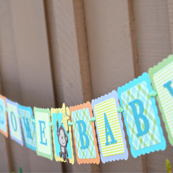 Jungle theme baby shower banner, jungle birthday party banner, jungle theme sign, Jungle theme party ideas, lions, monkey, giraff