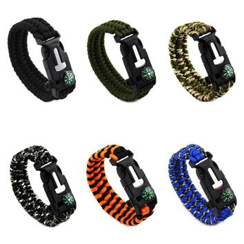 FREE - Paracord Survival Bracelet with Fire Starter & Embedded Compass