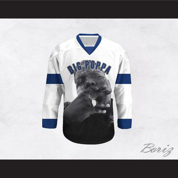 Big Poppa B.I.G. 21 White Hockey Jersey